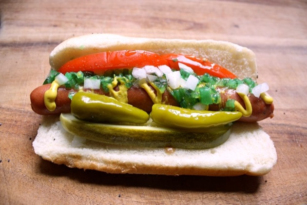 chicago hot dog 1