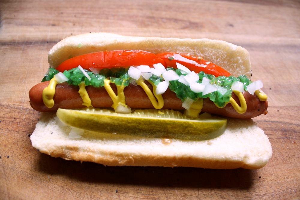 Veggie Hot Dog Chicago