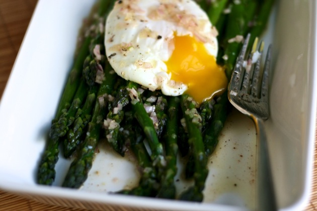 asparagus with brown butter lemon vinaigrette1