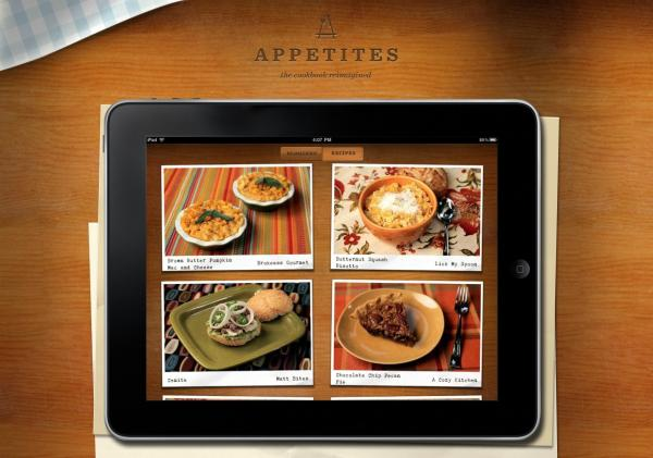 Appetites for iPad Homepage